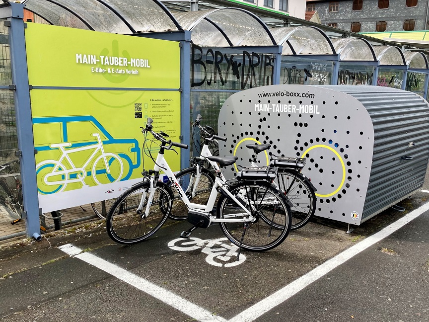 E-Bike Verleih am Bahnhof Bad Mergentheim